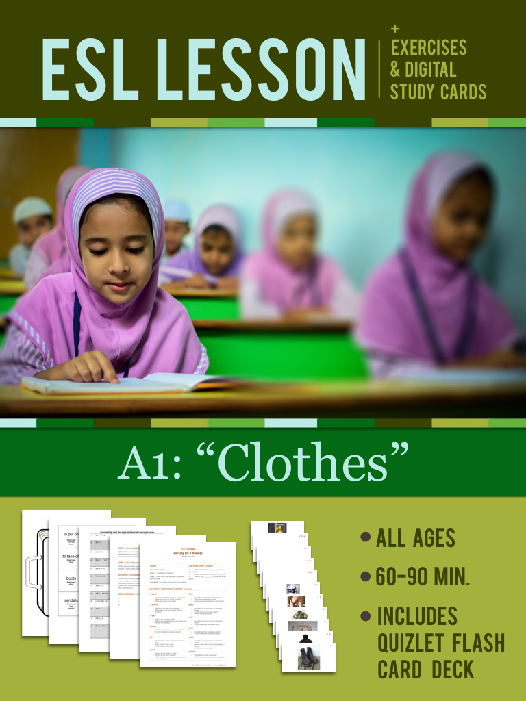 "A1: ""Clothes"" Lesson"