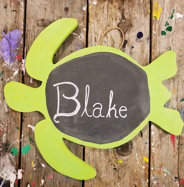 Turn everything into a chalkboard sign!