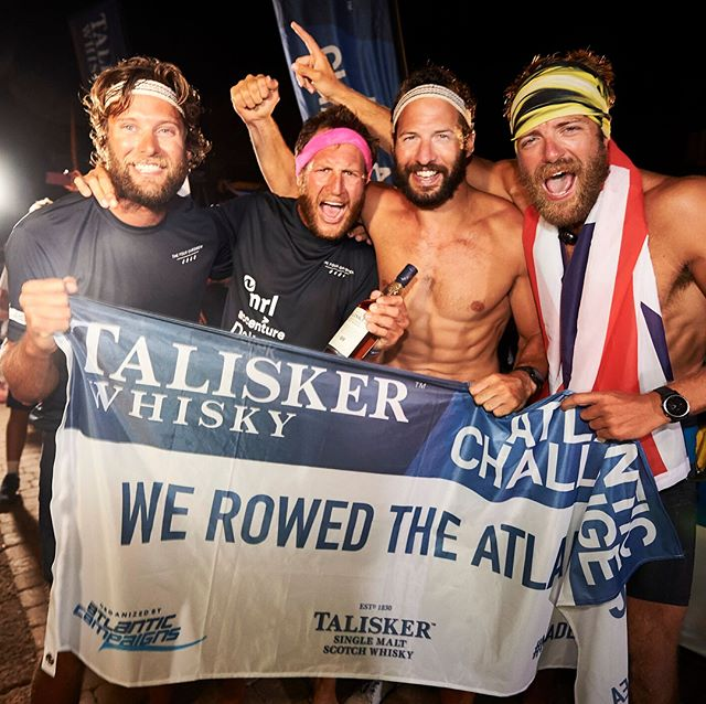 A month ago today this happened!! Our aim was to raise as much money as possible for @mind and @spinalresearch and then just row as hard as we could. We are so grateful for everyone who made our journey possible and ultimately on both accounts successfully. . . . #worldrecord #rowing #twac2017 #madebythesea #mind #spinalresearch #charity #atlanticrow #thefouroarsmen #manhug