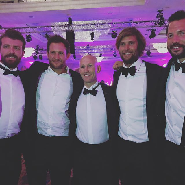 A fantastic evening celebrating Deans Stott's x2 World Records and raising awareness for mental heath. Dean cycled 14,000 miles from Patagonia to Alaska on the Pan-American Highway shaving 17 days off the previous world record 🚴🏼‍♂️ 💨  The Duke of Sussex made an appearance and recognised that over the last 2 years as a county we've made considerable progress in dealing with mental health issues across our communities, a big part of that is getting our heads around the fact there's no shame in starting the conversation.  Dean is well on his way to achieving his fundraising target of over £1M for @mindcharity and @heads_together, what a true champ 💪🏼 . . . #mind #mentalhealthawareness #specialforces #worldrecord #blacktie #thefouroarsmen #princeharry #starttheconversation #talkup