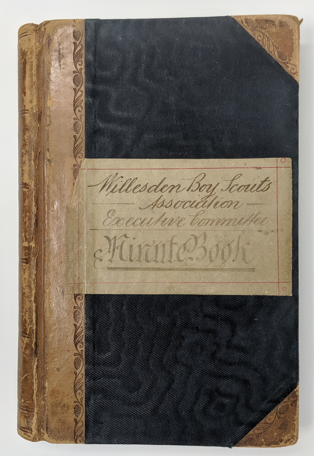 The Cover of the First Minute Book of the Willesden Boy Scout Association