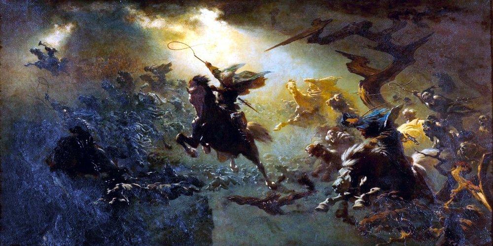 'The Wild Hunt' ~ Johann Wilhelm Cordes