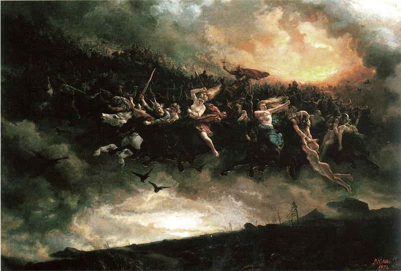 'Åsgårdsreien' (The Ride of Asgard) ~ Peter Nicolai Arbo