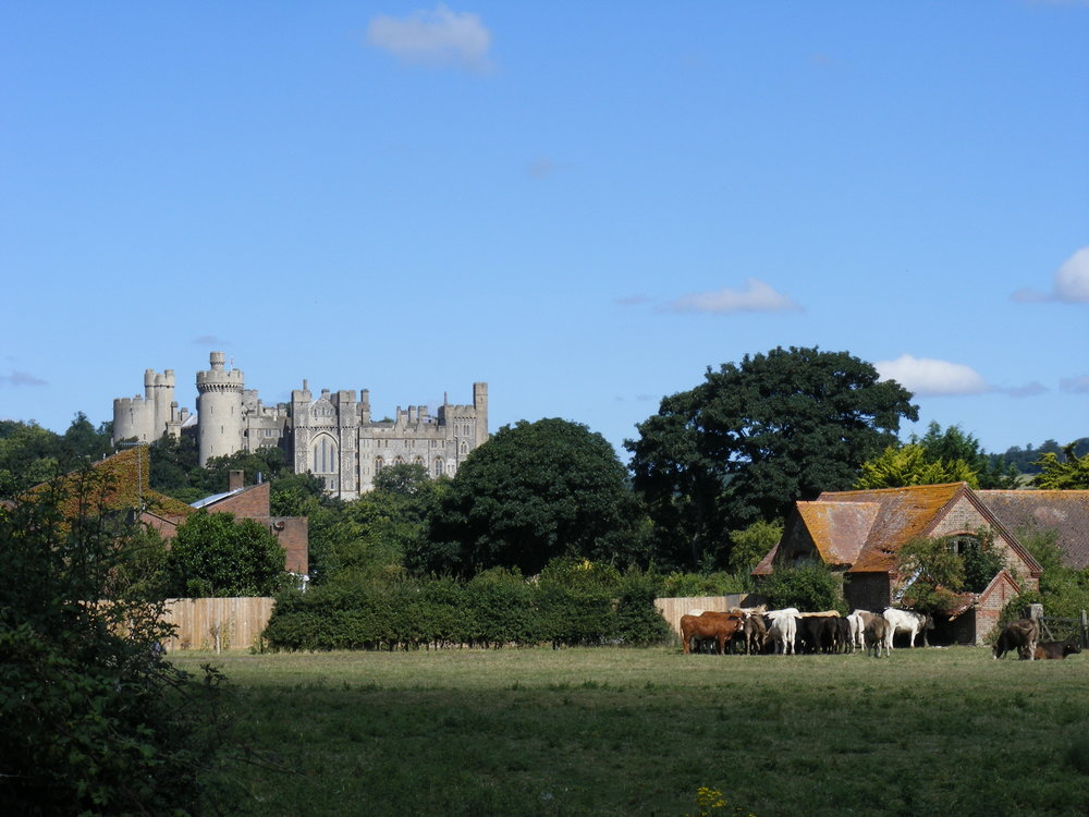 Arundel Castle - the view just after leaving the train station