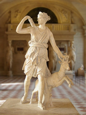 Artemis (sculpture better known as 'Diana of Versailles') - the Louvre Museum