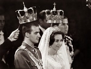 Prince Juan Carlos marrying Princess Sophia of Greece.jpg
