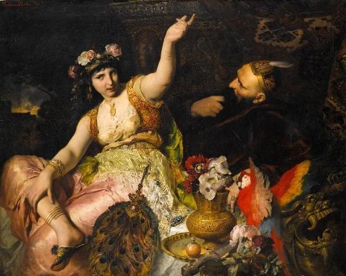 'Scheherazade and Sultan Schariar'~ Ferdinand Keller