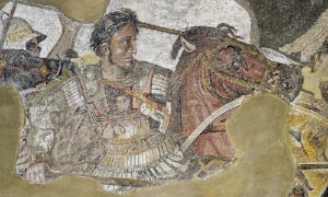 (detail from the Alexander Mosaic)