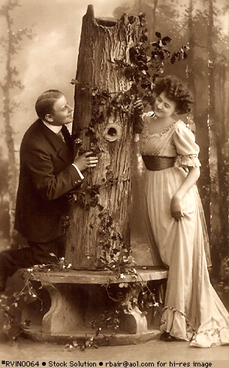 Vintage photo - courting couple
