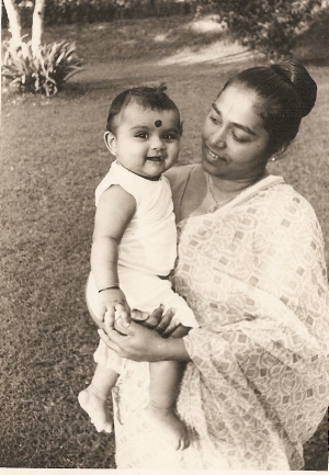 Baby me with my mum