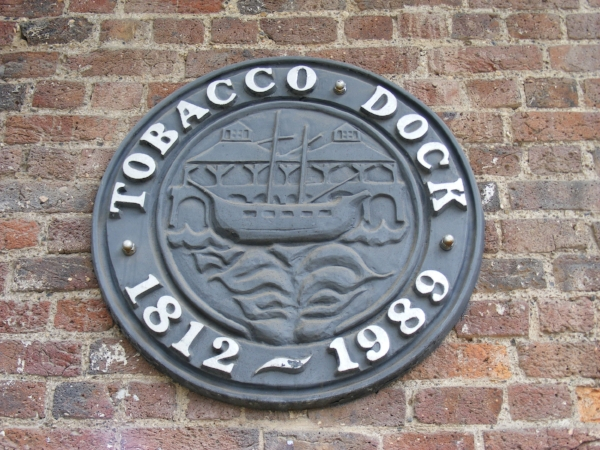 Tobacco Dock plaque