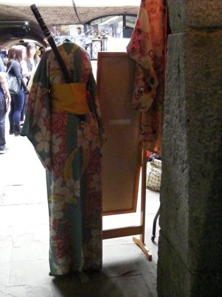 Kimono with sword