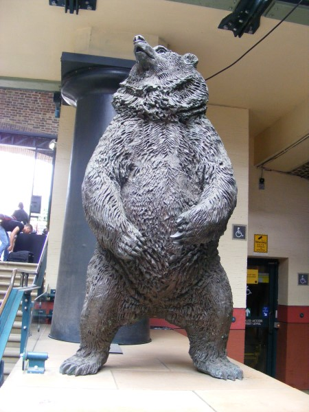 Bear statue by north entrance