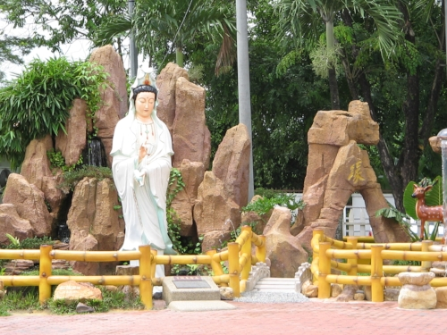 At Kuan Yin temple