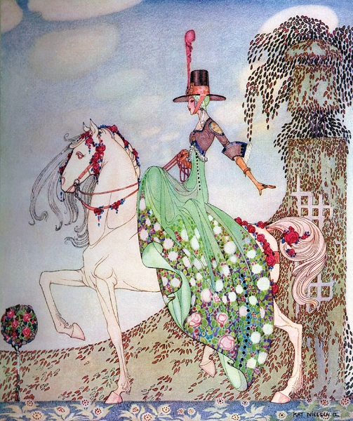 'Princess Minon-Minette rides out to find Prince Souci'