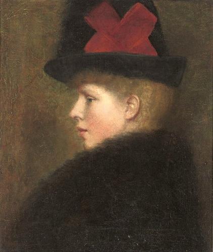 Mary Frederica 'Nin' Godward - Godward's only sister, painted 1883