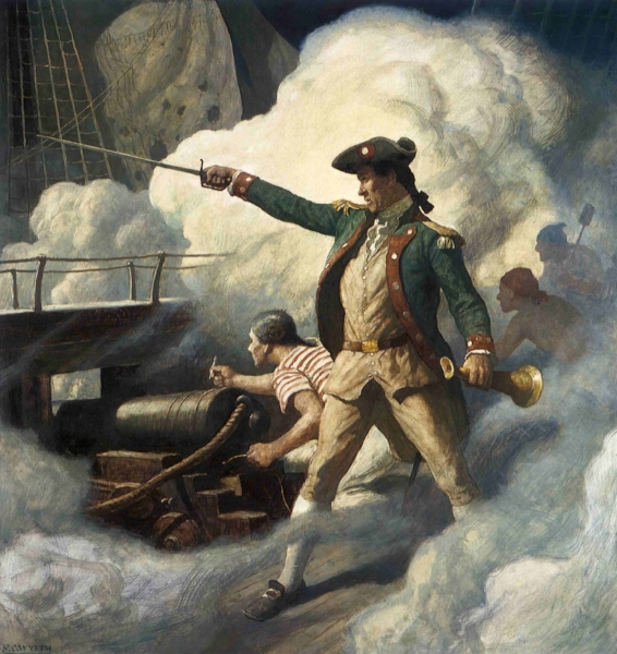 'Captain John Paul Jones' - Naval commander in the American Revolutionary War