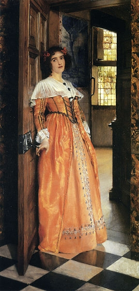 'At the Doorway' ~ Laura Theresa Alma-Tadema