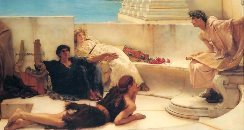 'A Reading from Homer' (1885)