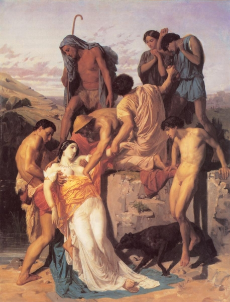 'Zenobia found by Shepherds on the Banks of the Araxes' (1850)