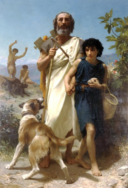 'Homer and his Guide' (1874)