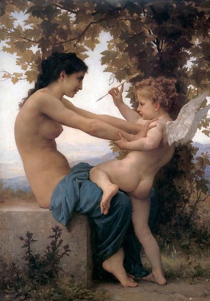 'Jeune fille se defendant contre lamour (1885)