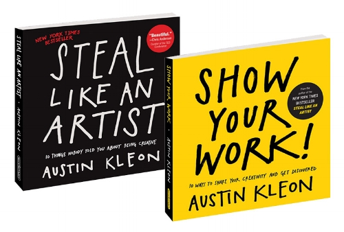 'Steal like an Artist' and 'Show your Work' book covers