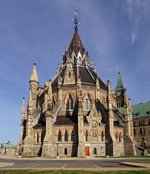 Canada's Library of Parliament (photo credit: Wladyslaw, Wikipedia user)