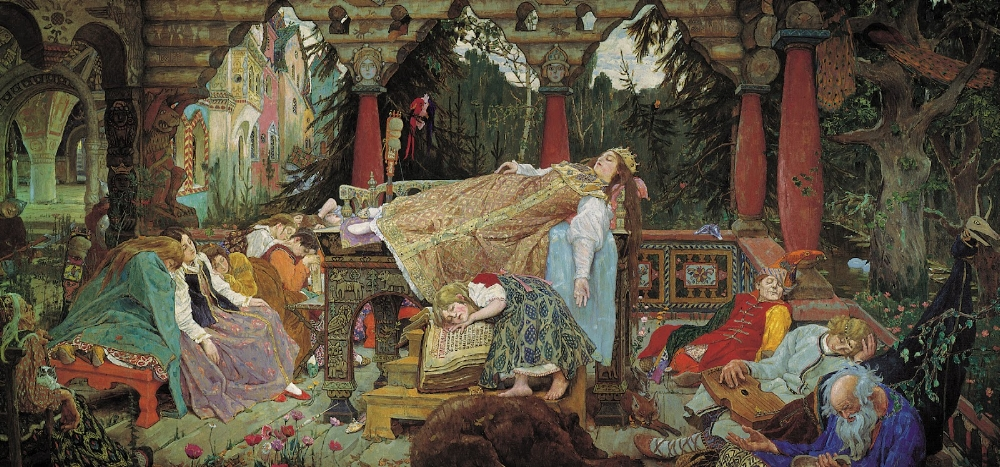 'The Sleeping Princess' ~ Viktor Vasnetsov