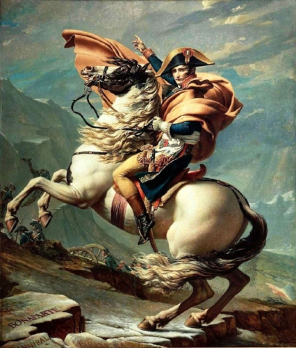 'Napoleon Crossing the Alps' ~ Jacques-Louis David