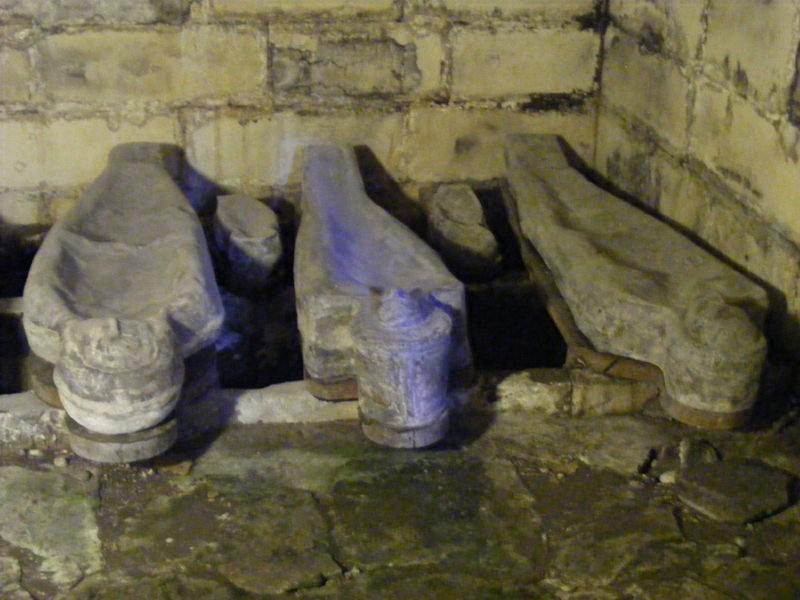 Human shaped lead coffins