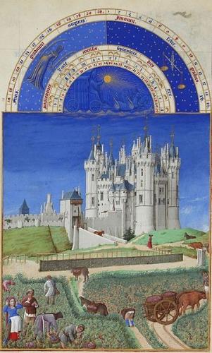 Cháteau de Saumur - 15th century - 'Les Tres Riches Heures de duc de Berry Septembre'