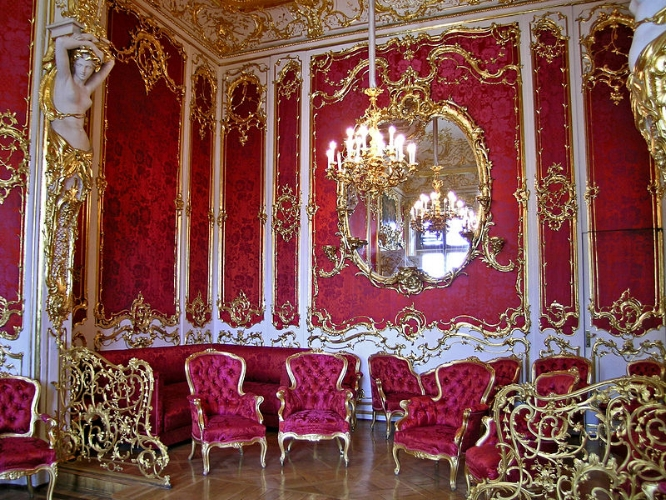 Boudoir of Empress Maria Alexandrovna (mid-19th century) in the Winter Palace at the State Hermitage (Saint Petersburg)