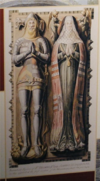 Sir Thomas and Lady Hungerford, tomb, drawing by Thomas Trotter 1800 (own photo)