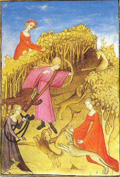 Medieval Women Hunting - 'Master of the Epitre d'Othéa' 1407-1409 (W.Commons)