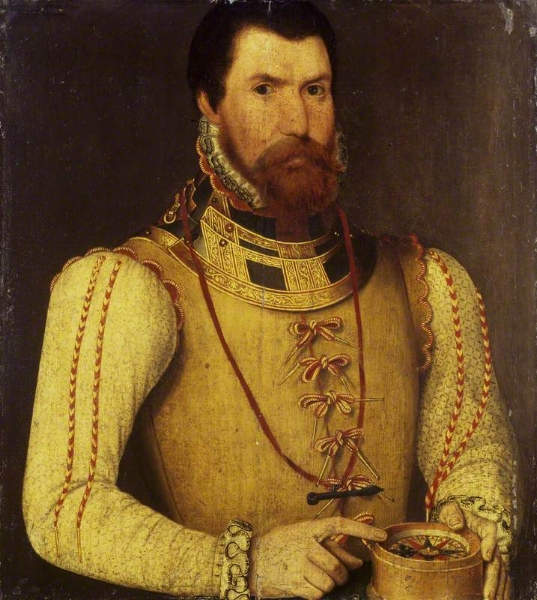 Edward Fiennes de Clinton, Lord High Admiral, later 1st Earl of Lincoln, wearing an arming doublet and holding a compass (1562) - Wikipedia