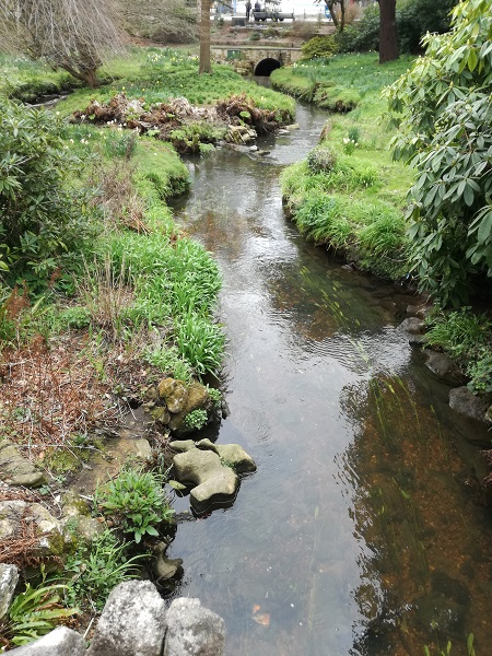 Stream that runs through the town gardens