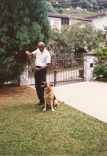 With the last dog he had, Prince