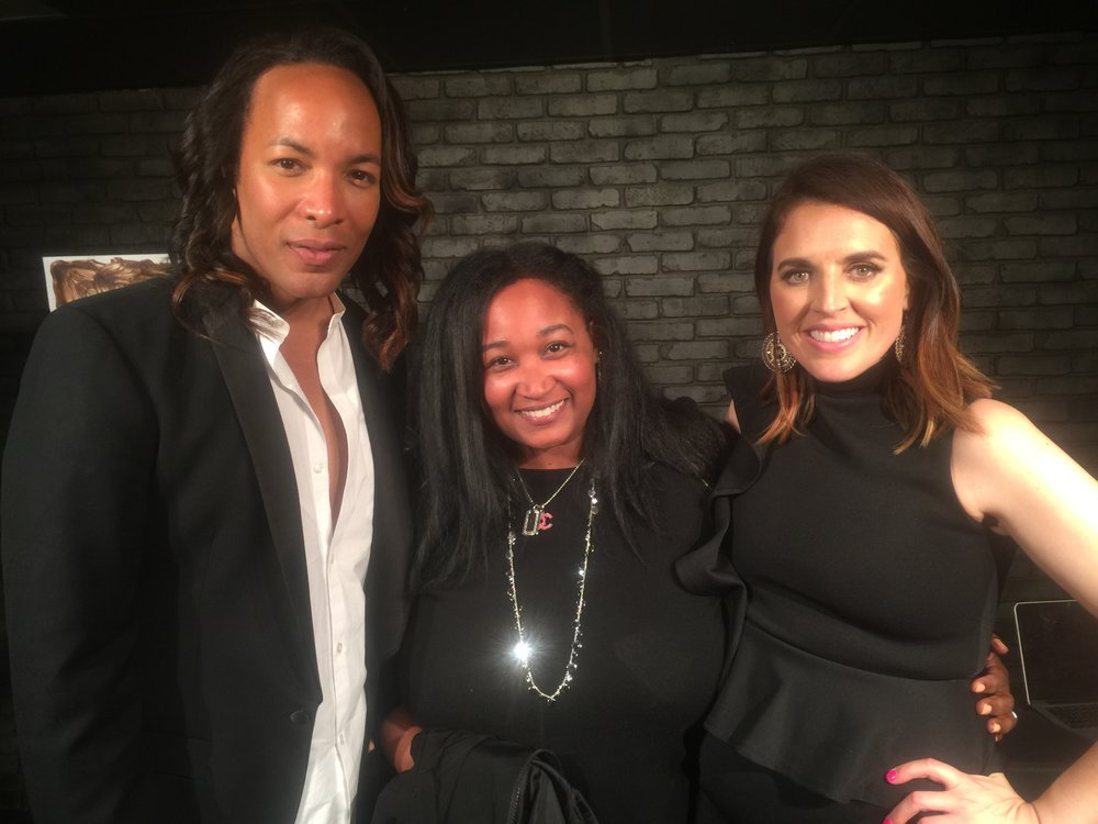 Paul Wharton and Sarah Fraser looking hot. The all black is coincidental. My first media interview in front of a live studio audience. - Washington, DC, Spring 2017