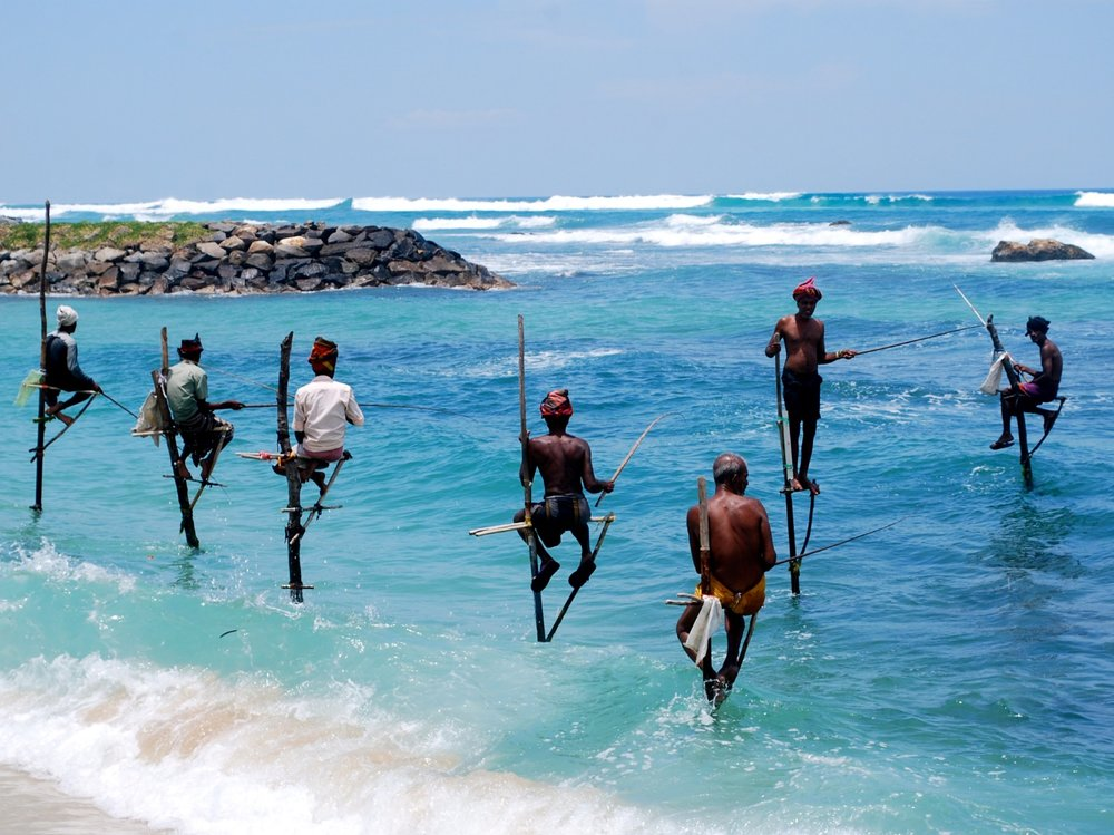 STILT FISHERMEN NEAR FORT GALLE.jpg