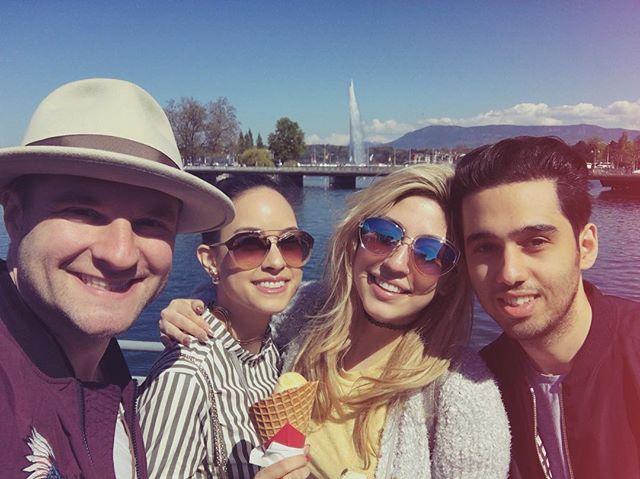 #TBT in Geneva city with amazing talents @blakelewis @aileendoan & @briellevonhugel 🔥