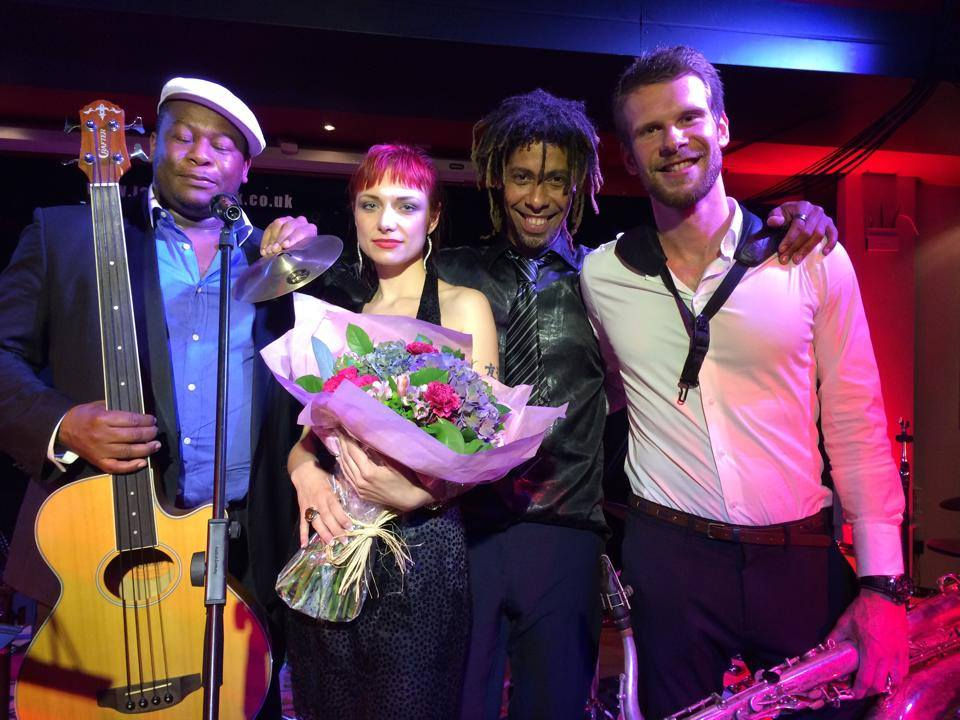 30th August 2013 Sonia Edgy Quintet performed a debut concert in London at Jazz Cafe POSK.
