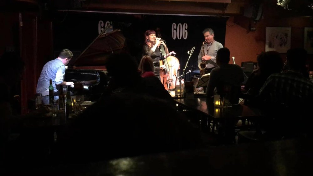 606 Jazz Club Chelsea, with Dan Rainstein -ts, Tim Lapthorn -p Steve Rose - db, Winston Clifford - dr London June 2017
