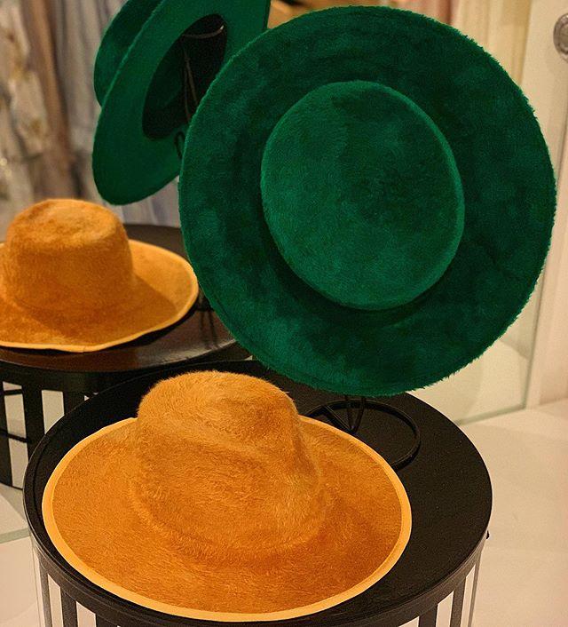 Couple of fuzzy hats:) #millinery #hats #handmade #behidadolicmillinery #behidadolic #felthats #fashion #style #bolero #fedora