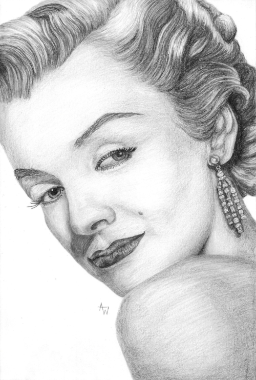 Marilyn Monroe - A4, pencil