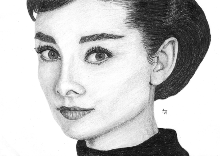 Audrey Hepburn - A4, graphite pencil