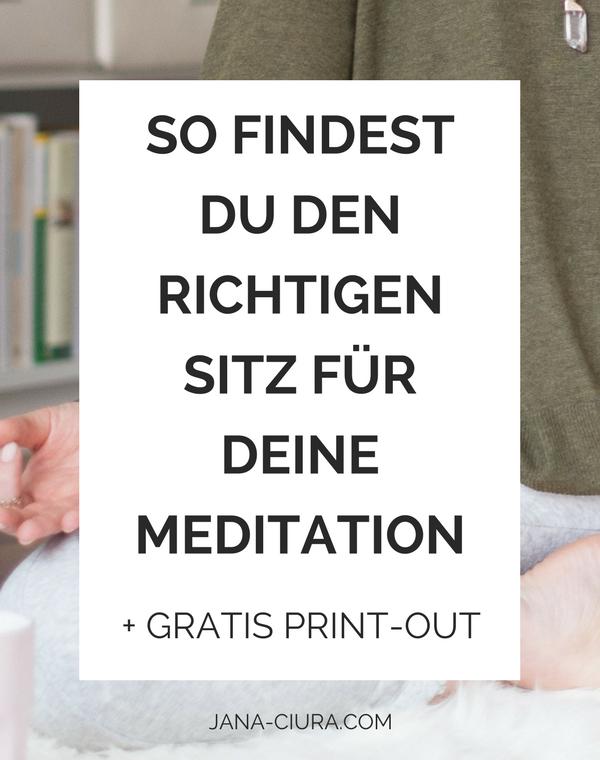 Wie soll man beim Meditieren sitzen? Zum Blog Post...