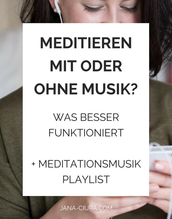 Soll man mit Musik meditieren oder nicht? - Mehr im Blog Post