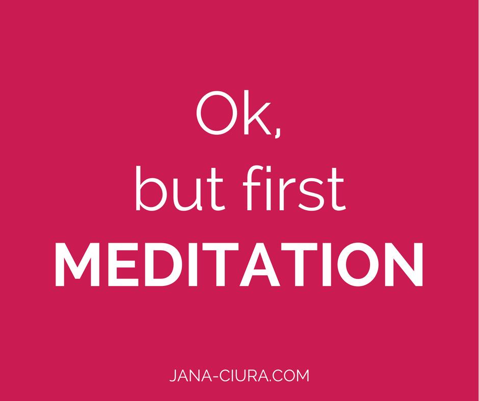 Plane Meditation in deinen Alltag ein, egal was du vorhast.