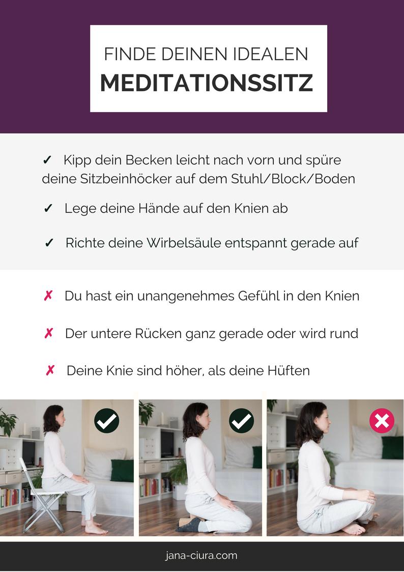 Anleitung: So findest du den richtigen Sitz für deine Meditation